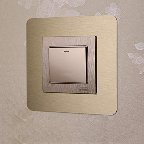 XOSHX (4 Piezas) Pegatinas Interruptor Acrílico Cubierta Protectora Pegatinas de Pared Juegos de Interruptores Moderno Minimalista Decorativo Cubierta Interruptor Desechable