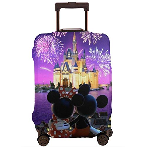 Travel Luggage Cover Minnie and Mickey Mouse Suitcase Protector Washable Baggage Covers 18-32 Inch-L