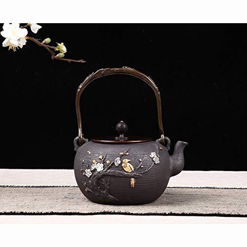 WNTHBJ Welkom op de tak gietijzeren pot, gietijzeren pot oude ijzeren pot, kokende thee pot ketel, draagbare thee pot huishoudelijke ketel
