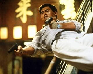 Yun-Fat Chow in Lat sau san taam Hard Boiled action firing two guns 11x14 HD Aluminum Wall Art