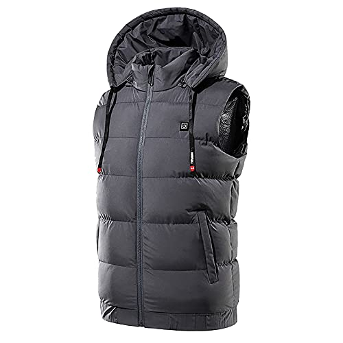 Mimacoo Heated Vest for Womens Lightweight Warm Vest Warming Heated Jacket Full Zip Heating Coat with Pockets Gray
