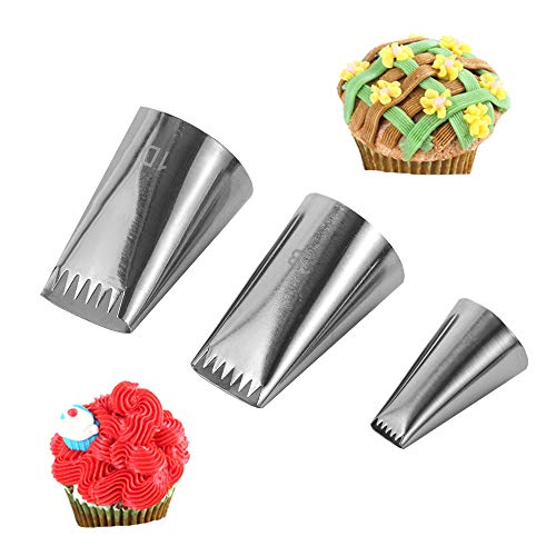 Symphony Wire Tips, Stainless Steel Icing Piping Nozzles For Pastry Fondant Tools (D)