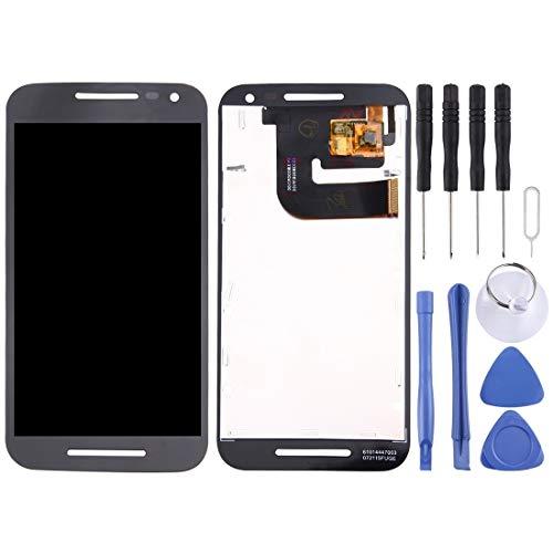 Motorola-Touchscreen LCD Screen und Digitizer Full Assembly for Motorola Moto G (3. Generation) / XT1541 / XT1542 (Schwarz) (Color : Black)