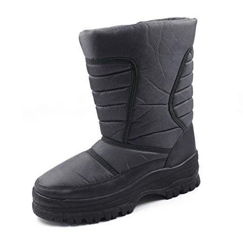 SkaDoo Mens Snow Winter Cold Weather Boots 7701 Gray Size 9