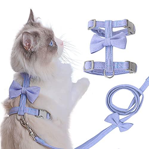 Cat Vest Harness and Leash, Cat Harness Escape Proof Escape Proof Mesh Breathable Adjustable Vest Harnesses for Cat H…