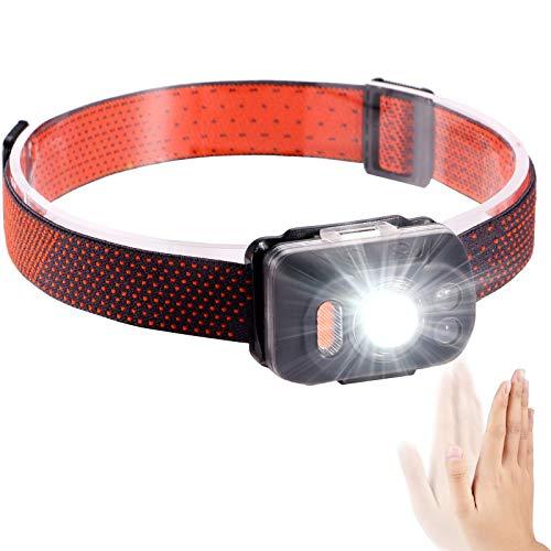 Linterna frontal LED recargable por USB, resistente al agua, perfecta para camping, correr, senderismo, para niños y más