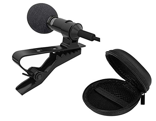 BLAXSTOC Noise Cancellation Clip Collar Mic Lavalier Condenser for YouTube Video | Interviews | Lectures Travel Videos Mike for Mobile with Warranty + Free Handsfree Pouch
