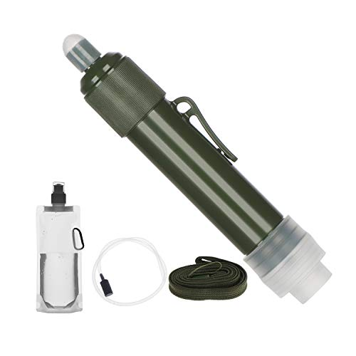 Thanksky Portable Personal Water Filter Straw, Water Purification Tool, Mini Water Filtration System Purifier, Survival Gear for Hiking, Camping, Climbing, Travel and Emergency Preparedness