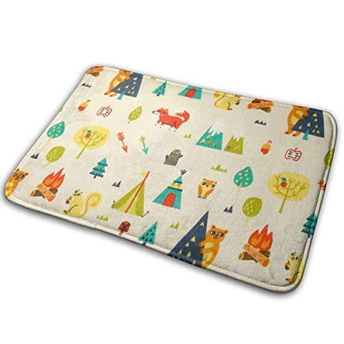 Goodshope anti-slip deurmatten Happy Camper ingang tapijt binnen/buiten tapijt absorbeert vocht wasbare Dirt Trapper matten 19,5