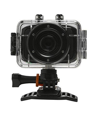 Denver HD Actioncam (5 Megapixel, 5 cm (2,0 Zoll) Display, CMOS Sensor, USB) inkl. wasserdichtem Gehäuse bis 10 m