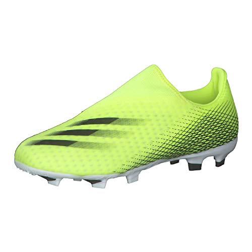 adidas X GHOSTED.3 LL FG, Zapatillas de fútbol, Amasol/NEGBÁS/AZUREA, 37 1/3 EU