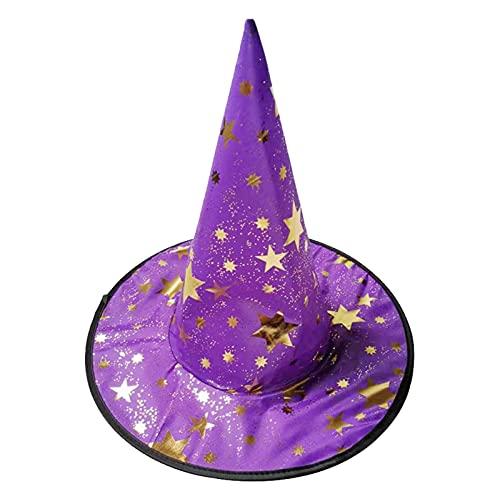 WOYAOFEI Cappello da strega per Halloween, in bronzo, per feste di danza, performance di scena, unisex, cappello a cilindro, per danza, feste, performance magiche, 7 colori