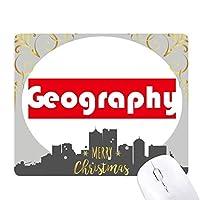 コースと主要な地理学・レッド クリスマスイブのゴムマウスパッド