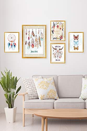 Bonamaison Decoratieve MDF-plaat, meerkleurig, 34 x 44, 5 stuks