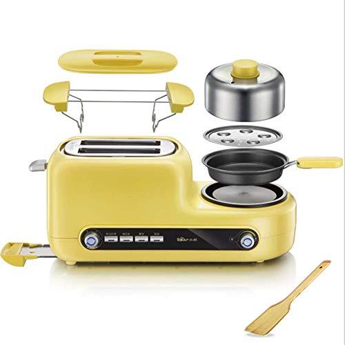 2-Slice Toaster, Multifunctionele Broodrooster Met 6 Temperatuur Instellingen En Thaw Function, Gebakken Spek, Pannenkoeken, Gebakken Ei, Gekookt Ei Huis Sandwich Ontbijt Machine