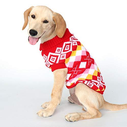 N/A Ropa para Perros Lindo Jersey para Perros, Ropa Abrigada de Invierno, Punto Punto para Perros, Abrigo, Ropa Suave para Mascotas para Perros medianos y Grandes, Bulldog Chihuahua