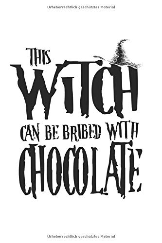 Notizbuch: Halloween Hexe Schokolade Besen Kostüm Geschenke 120 Seiten, 6X9 (Ca. A5), Punktraster