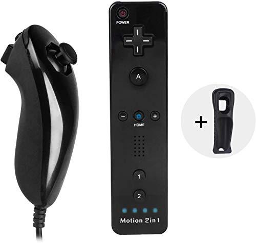 Bestseller2888 Built-in Motion Plus Remote & Nunchuck Controlle (Motion-Black)