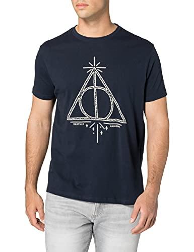 Springfield Camiseta Harry Potter, Azul Oscuro, M para Hombre