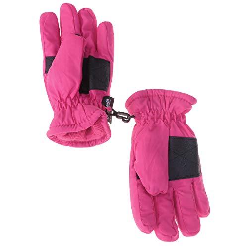 Kinder Handschuhe wasserdichte Winddichte Winterhandschuhe Fäustlinge Geeignet für 1-3 Jahre Mädchen und Jungen (Rosa)