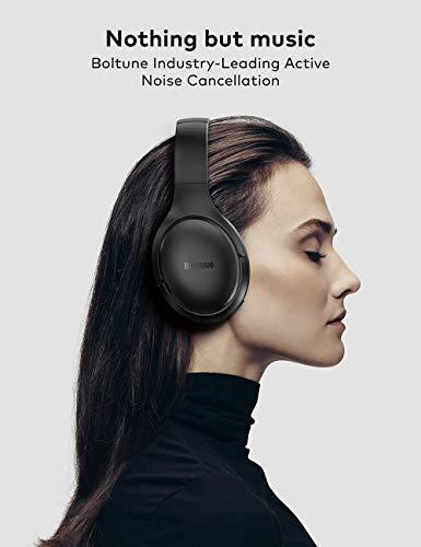 Active Noise Cancelling Headphones  Bluetooth 5.0 Over Ear Wireless Headphones with Mic Deep Bass 4