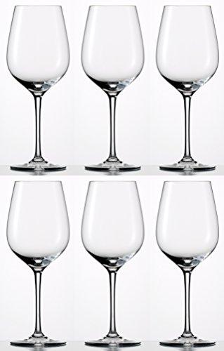 Dekomiro Eisch Rotweinglas Sensisplus 500/2 6 Stück Geschenkset mit Glasputztuch