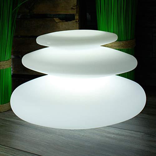 Arnusa Oasis Lights Moderne Deko Lampe Flatstones mit Fernbedienung und Farbwechsel Tischleuchte Nachttischlampe dimmbar Nachtlicht