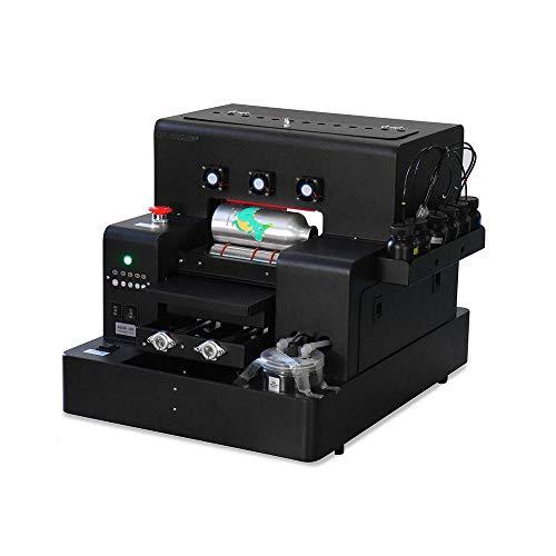 UV Printer A4 Size UV Flatbed Printer for Bottle, Phone Case, Lighter, TPU, PVC, Metal, Wood