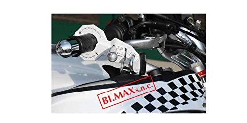 HelmetBikeProtection Antifurto Moto e Casco Combinato Large Bianco con Lucchetto Abus