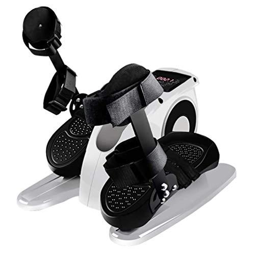 SHIYN Desk Electric Elliptical Machine Trainer, with Leg Protection Bracket, Under Desk Bike Pedal Exerciser,Mini Cycle Exercise Bike for Leg Pedder Portable