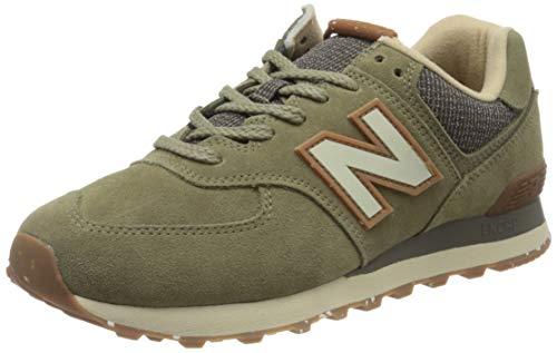 New Balance Herren 574v2 Sneaker, Grün (Green Soj), 43 EU