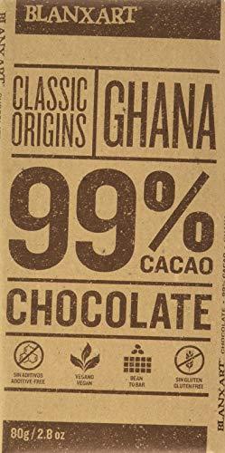 Blanxart Tableta de Chocolate Negro - Ghana 99{c4138ef913d0b1b4051a5a82b026b3af56ba240154725126181bf1d7c4999890} Cacao 1 Unidad 100 g