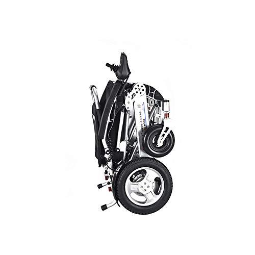 HXCD Silla de ruedas eléctrica de gama alta de cuatro ruedas scooter ligero marco de aluminio plegable sin escobillas motor silla de ruedas eléctrica