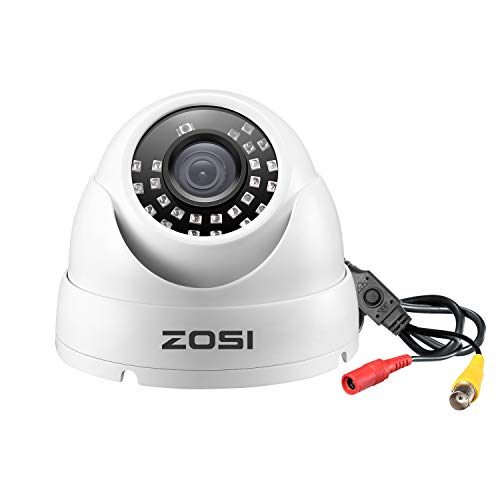 top 10 dome cameras ZOSI 2.0MP FHD 1080p Dome Metal Housing Outside Inside (Hybrid 4-in-1 CVI / TVI / AHD / 960H…
