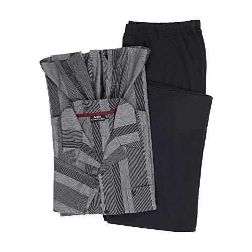 hajo Langer Schlafanzug \'Klima Komfort schwarz bis Übergröße 7XL, Größe:6XL