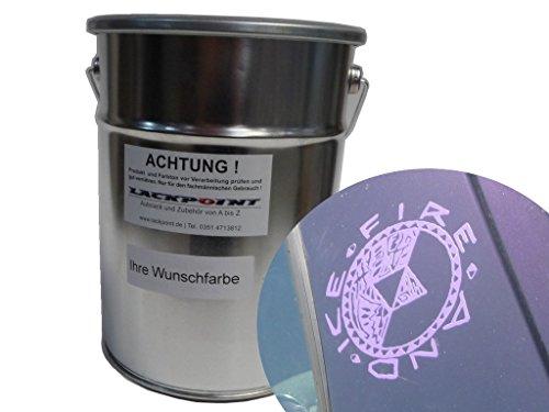 Lackpoint 1 Liter Spritzfertigen Wasserbasislack für VW LC4V Lila Metallic Autolack