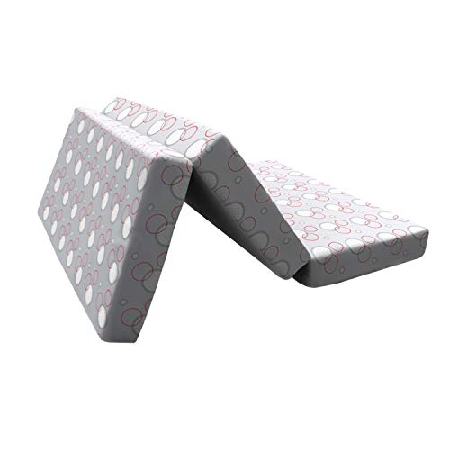 Clevamama ClevaFoam Colchón para Parques Cuna 65x95 cm - Colchón Plegable de Espuma Transpirable - Gris