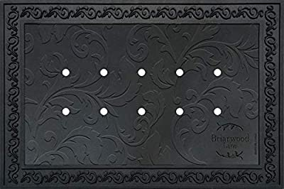 "Briarwood Lane Outdoor Rubber Doormat Tray for 18"" x 30"" Doormats Floral Design"