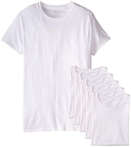Fruit of the Loom Men's Stay Tucked Crew T-Shirt (White, XX-Large Tall) 6-Pack