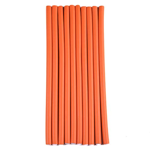 MY LIKE 40-pack 9.5' Twist-Flex Soft Bendy Foam Hair Roller Flexible Curing Rods-Hair Curlers For Long,Medium and Short Hair(Diameter 1cm)