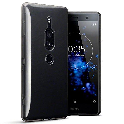 TERRAPIN, Kompatibel mit Sony Xperia XZ2 Premium Hülle, TPU Schutzhülle Tasche Hülle Cover - Transparent Schwarz