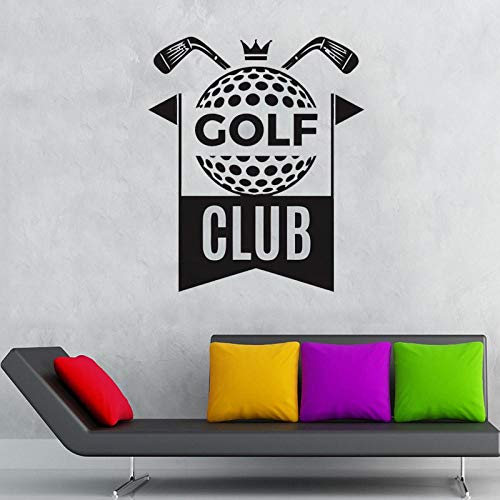 MRQXDP Muursticker Golf Club Quotes Muurstickers Kids Jongens Meisjes Tiener Kamer Vinyl Decor Outdoor Sport Thuis Art Decals 57x68cm Dorm Muursticker