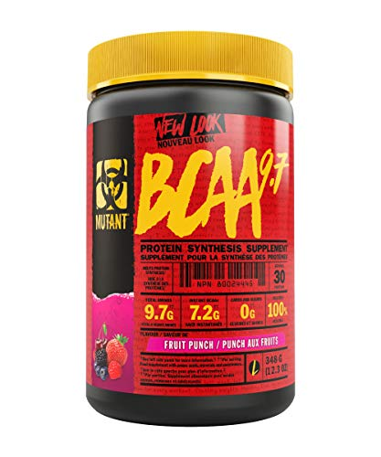Mutant BCAA 9.7 – Supplement BCAA Powder with Micronized Amino Acid and Electrolyte Support Stack – 348 g – Fruit Punch