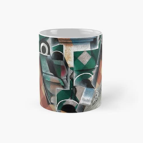 Juan Gris Le Journal Classic Mug Best Funny Coffee 11 oz para familiares amigos