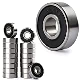 LotFancy 608-2RS Skateboard Ball Bearings, 18 Pack Ball Bearings 8mm x 22mm x 7mm, Double Rubber Sealed Deep Groove Skate Bearings for Longboards, Scooters, Inline Skates, Roller Skates