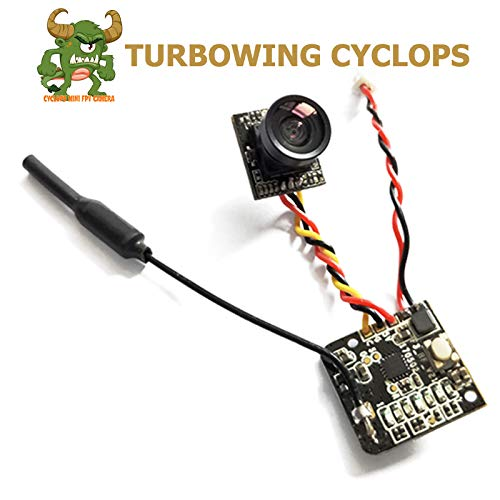 TURBOWING CYCLOPS2 FPV Camera 700tvl Cmos Micro Cam 5.8g 48ch 25mw Transmitter Switchable Raceband 2.9-5.5v Ntsc/Pal Switchable for Tiny Whoop FPV Drone