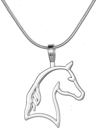 Lemegeton - Collana con ciondolo a forma di testa di cavallo, stile vintage, stile etnico, per cowgirl e ragazze, idea regalo