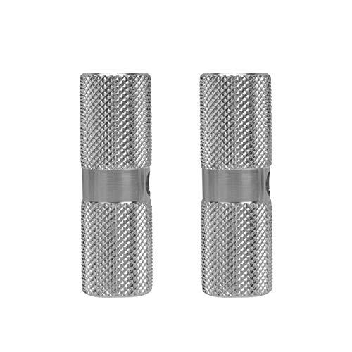 ABOOFAN Bazooka Aluminium-Fußrasten für Vorderachse, rutschfest, 1 Paar (Silber)