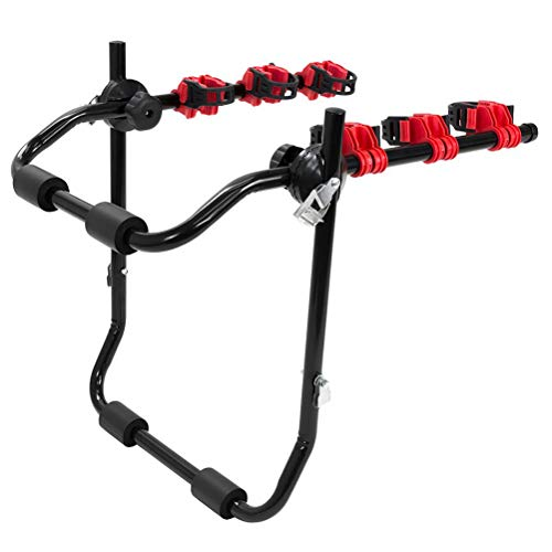 Hot Wing Bike Carrier Portable Bike Rear Carrier Hitch Mount Carry Rack Car Truck with Fix Strap Quick Release Steel 60kg Max Load -Black & Red