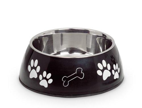 Nobby 79077-06 Hunde-Oder Katzen-napf Diva Diner, 17.5 cm, 0.5 Ltr., schwarz
